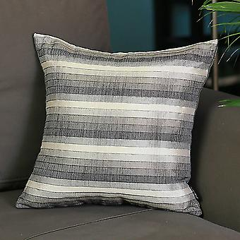 Gray Taupe and White Stripe Decorative Throw Pillow Cover