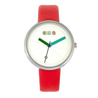 Relógio Unissex do metric de Crayo - vermelho
