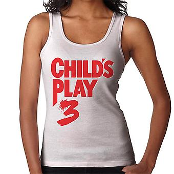 Chucky Childs Play 3 Classic Red Logo Women's Vest