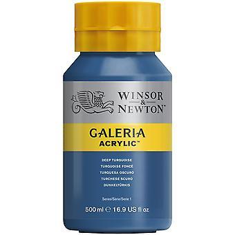 Winsor & Newton Galeria Acrylic Paint 500ml - Deep Turquoise