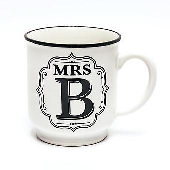 Histoire et Heraldry Alphabet Mug - Mme B
