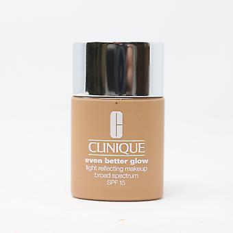 Clinique enda bedre Glow reflekterende makeup 54 Honey hvete 1oz/30ml ny i boks