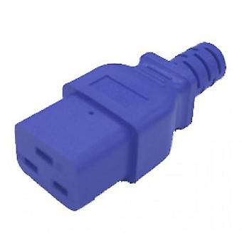 Iec C19 To C20 Power Cable 15A Blue 1M
