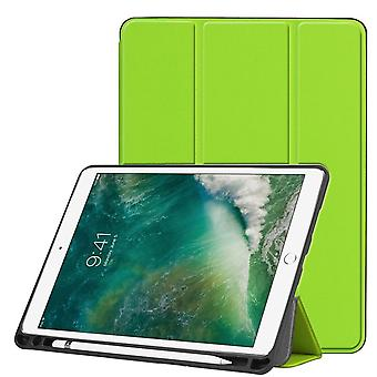 For iPad Air 3 (2019) Case,Karst Texture PU Leather Folio Cover,Pen Slot,Green