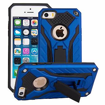 For iPhone SE (1st gen),5s & 5 Case,Armour Cover Kickstand,Blue