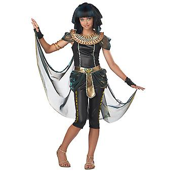 Dark Egyptian Princess Cleopatra Queen Of Nile Ancient Tween Girls Costume