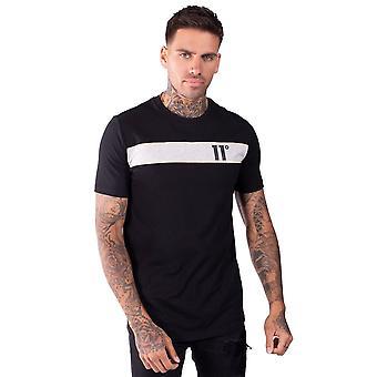 Onze degrés 11 degrés 11d-014-001 Leon T-shirt - Noir