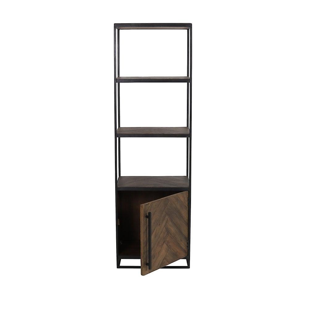Cabinet léger et vivant Demi Ouvert 55x40x180cm Chisa Wood Brown-Black