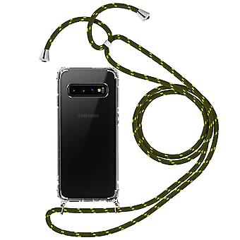Braided Nylon Lanyard Phone Case for Samsung Galaxy S10e - Forcell, Green