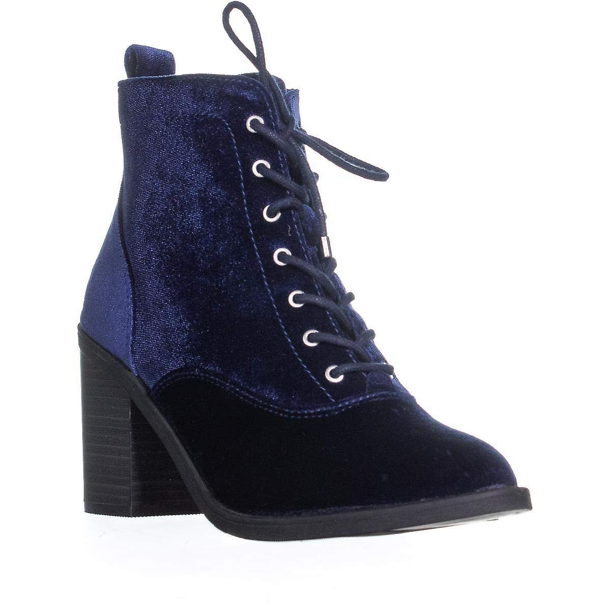 Material Girl Womens Mlandrey2 Velvet Closed Toe Ankle Fashion Boots