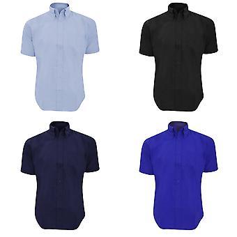 Kustom Kit Mens Workwear Oxford chemise à manches courtes