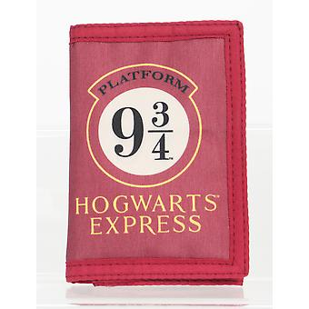 Harry Potter Hogwarts Express Tri Fold Children's Wallet Burgundy