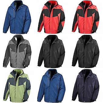 Result Mens 3-in-1 Aspen Performance Jacket (Waterproof, Windproof & Breathable)