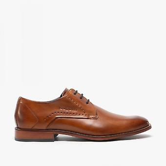Bugatti 312-85602 Mens Leather Derby Shoes Tan