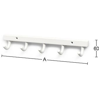 Towel rack Habo 840 5-hook White