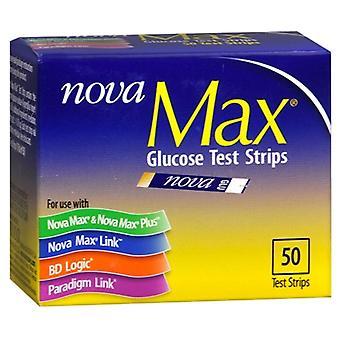Nova max glukose test strimler, 50 ea