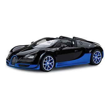 Licensed RC 1:14 Bugatti Grand Sport Vitesse Remote Control Car Toy Black/Blue