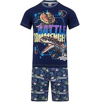Jurassic World Official Gift Boys Glow In The Dark Korte Pyjama's