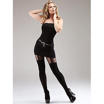 Miss Naughty Mock Suspender Tights, in Plus Size too! - Hosiery Outlet