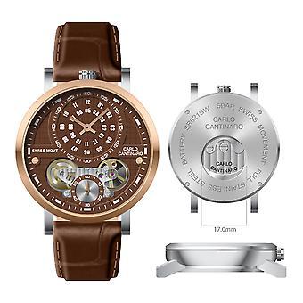 Carlo Cantinaro CC1004GL010 Men's Watch Quartzmatic GMT