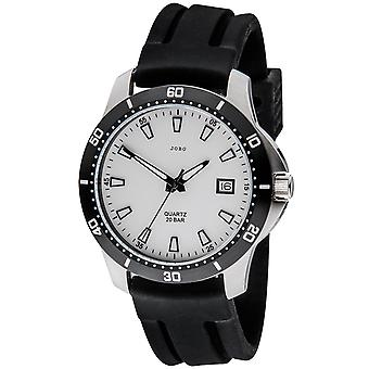JOBO men's wristwatch quartz analog stainless steel date watch