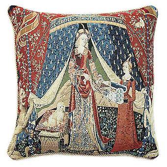 Lady and unicorn a mon seul desir cushion cover | art cushions 18x18 | ccov-art-lu-de