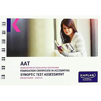 FOUNDATION CERTIFICATE IN ACCOUNTING SYNOPTIC TEST ASSESSMENT - POCKE