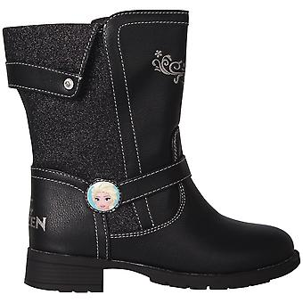 Character Girls Kids Full Zip Chunky Heel Casual Calf Boots Winter Shoes