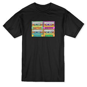 Kassetter Pop Art Design menn t-skjorte