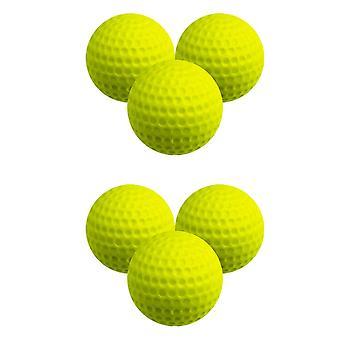 30% verminderde afstand Golf Ballen 6 Pack Geel