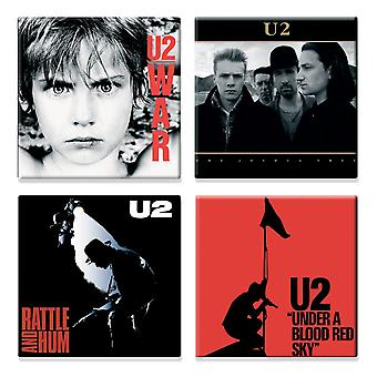 U2 4 x Fridge Magnet Albums joshua tree various designs new official Gift set