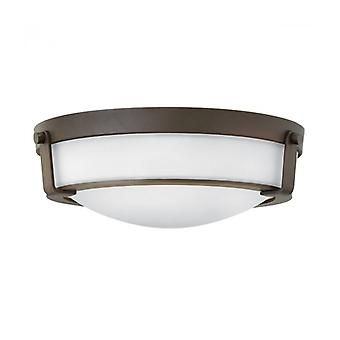 Hathaway Ceiling Lamp, Aged Bronze, Opal Glass