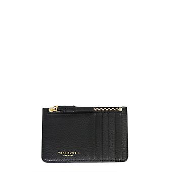 Tory Burch 61075001 Women's Black Leather Card Holder