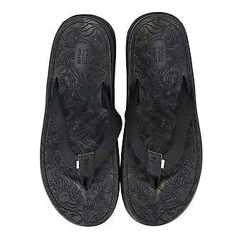 Men's Toms TRVL Lite Flip Flops in Black