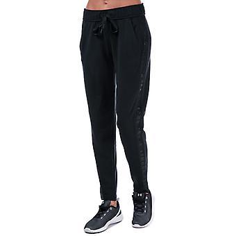 Women's Under Armour Featherweight Fleece Pants in Black