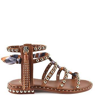 Ash Schuhe Pareo braun Leder besetzt Sandalen