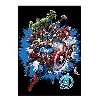 Marvel avengers super soft fleece blanket 100cm x 140cm 100% official merchandise