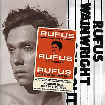 Rufus Wainwright - Rufus fait Judy à l'importation USA Carnegie Hall [CD]