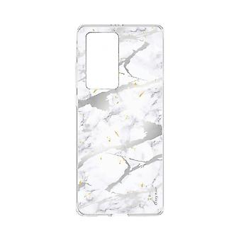 Hull For Huawei P40 Pro Soft Grey Marble Effect
