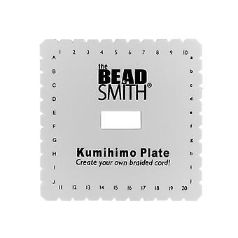 Kumihimo Square Plate, 15cm