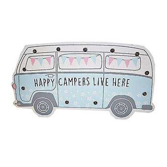 Happy Camper LED Standing Plaque - Blue by Langs