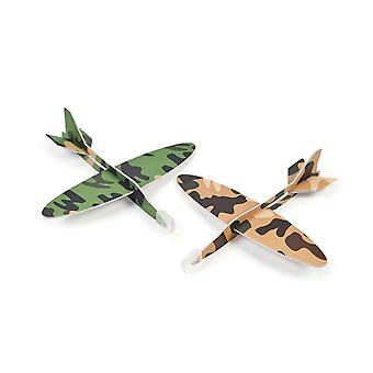 24 Diverse Army Camouflage Foam Glider Party Taske favoriserer