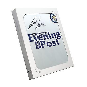 Gordon Strachan undertecknade Leeds United fotbollströja 1992. I presentförpackning
