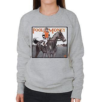 The Saturday Evening Post Fools Money 1906 Cover Women's Sweatshirt