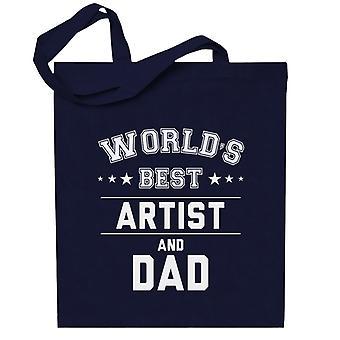 Maailman paras taiteilija ja isä Totebag