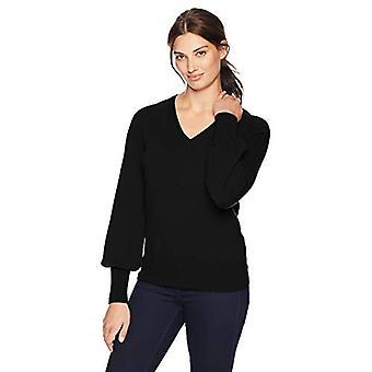 Lark & Ro Frauen's Pullover V Hals Kaschmir Pullover mit Glockenärmeln, moderne ...