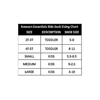 Essentials Boys' 10-Pack Cotton Varsity Crew Sock, Color Stripe/White with Grey Heather Heel, Toe, 5 to 8