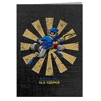 Sly Cooper Retro Japanese Greeting Card