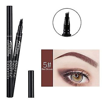 4 Head Makeup Eyebrow Enhancers - High-end Automatic Matte Eyebrow Pencil