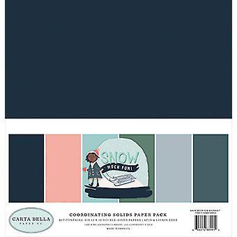 Carta Bella Sne meget sjovt 12x12 tommer koordinerende faste stoffer papirpakke